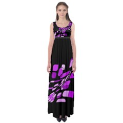 Purple decorative abstraction Empire Waist Maxi Dress