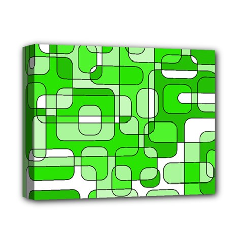 Green decorative abstraction  Deluxe Canvas 14  x 11