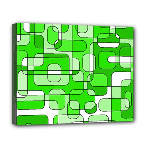 Green decorative abstraction  Deluxe Canvas 20  x 16