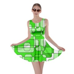 Green decorative abstraction  Skater Dress