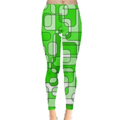 Green decorative abstraction  Leggings