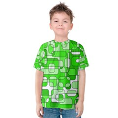 Green Decorative Abstraction  Kid s Cotton Tee