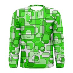Green decorative abstraction  Men s Long Sleeve Tee