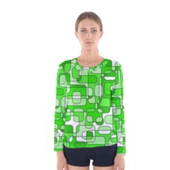 Green decorative abstraction  Women s Long Sleeve Tee