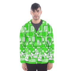 Green Decorative Abstraction  Hooded Wind Breaker (men)