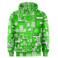 Green decorative abstraction  Men s Pullover Hoodie