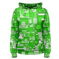 Green decorative abstraction  Women s Pullover Hoodie