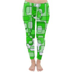 Green decorative abstraction  Winter Leggings