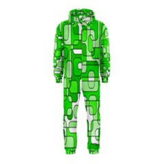 Green decorative abstraction  Hooded Jumpsuit (Kids)