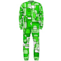 Green decorative abstraction  OnePiece Jumpsuit (Men)
