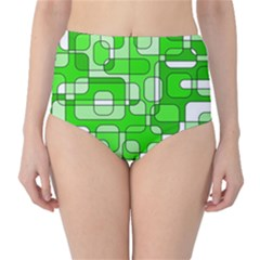 Green decorative abstraction  High-Waist Bikini Bottoms