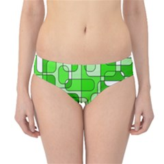 Green decorative abstraction  Hipster Bikini Bottoms