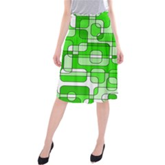 Green decorative abstraction  Midi Beach Skirt
