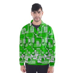 Green Decorative Abstraction  Wind Breaker (men)