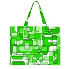 Green decorative abstraction  Large Tote Bag