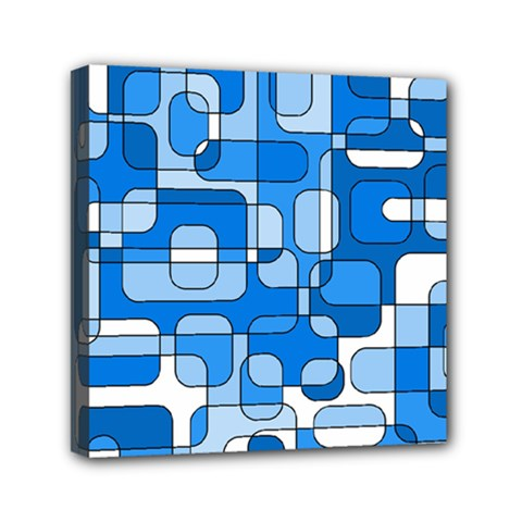 Blue decorative abstraction Mini Canvas 6  x 6