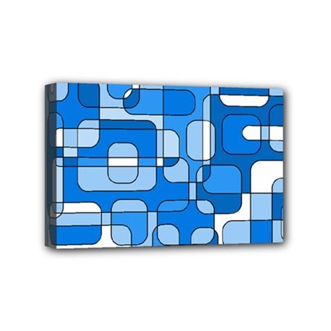 Blue decorative abstraction Mini Canvas 6  x 4