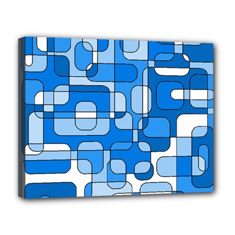 Blue decorative abstraction Canvas 14  x 11