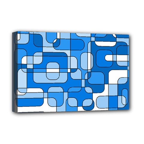 Blue decorative abstraction Deluxe Canvas 18  x 12