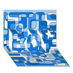 Blue decorative abstraction BOY 3D Greeting Card (7x5)