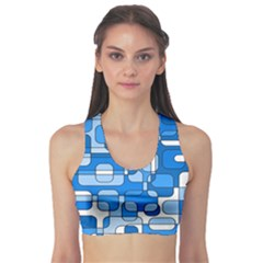 Blue decorative abstraction Sports Bra