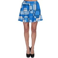 Blue decorative abstraction Skater Skirt