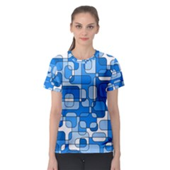Blue decorative abstraction Women s Sport Mesh Tee