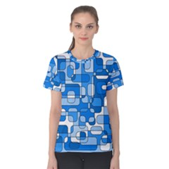 Blue decorative abstraction Women s Cotton Tee