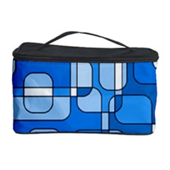 Blue decorative abstraction Cosmetic Storage Case