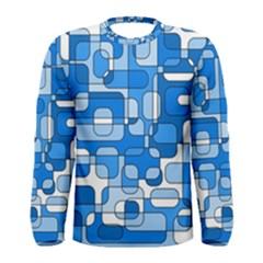 Blue decorative abstraction Men s Long Sleeve Tee