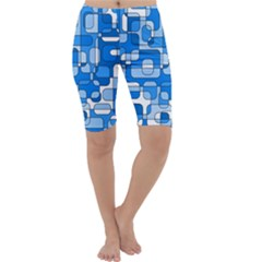 Blue decorative abstraction Cropped Leggings