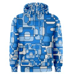 Blue decorative abstraction Men s Pullover Hoodie