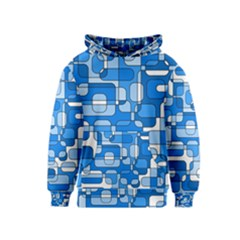 Blue decorative abstraction Kids  Pullover Hoodie