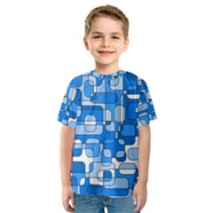 Blue decorative abstraction Kid s Sport Mesh Tee