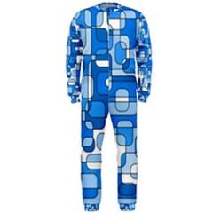 Blue decorative abstraction OnePiece Jumpsuit (Men)