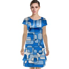 Blue decorative abstraction Cap Sleeve Nightdress