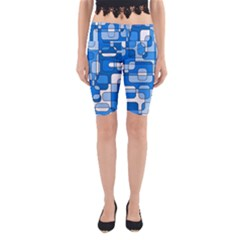 Blue decorative abstraction Yoga Cropped Leggings