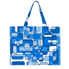 Blue decorative abstraction Large Tote Bag