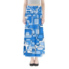 Blue decorative abstraction Maxi Skirts
