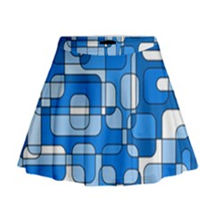 Blue decorative abstraction Mini Flare Skirt