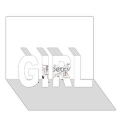 5004610 1817f Girl 3d Greeting Card (7x5)