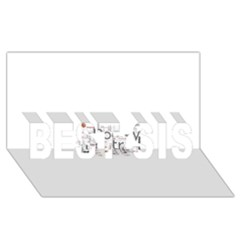 5004610 1817f BEST SIS 3D Greeting Card (8x4)