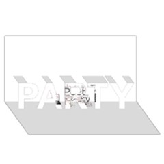 5004610 1817f PARTY 3D Greeting Card (8x4)