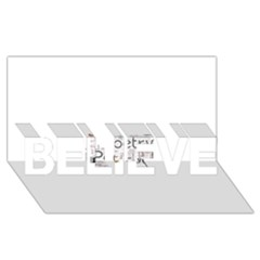 5004610 1817f Believe 3d Greeting Card (8x4)