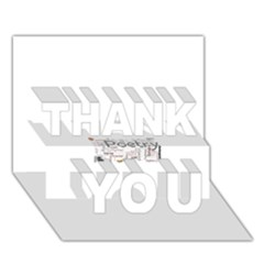 5004610 1817f THANK YOU 3D Greeting Card (7x5)