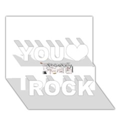 5004610 1817f You Rock 3D Greeting Card (7x5)