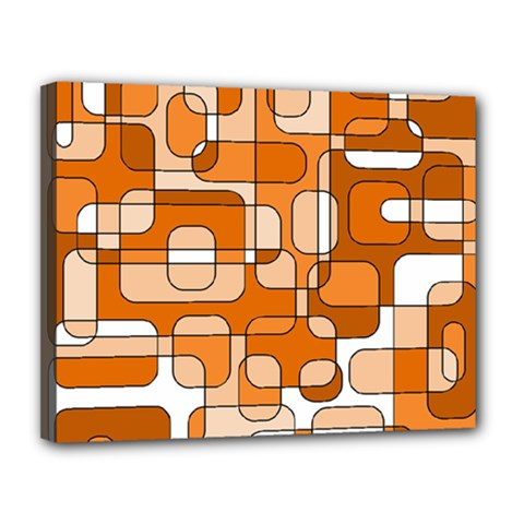 Orange decorative abstraction Canvas 14  x 11