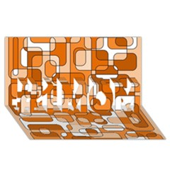 Orange decorative abstraction #1 MOM 3D Greeting Cards (8x4)