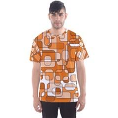 Orange decorative abstraction Men s Sport Mesh Tee
