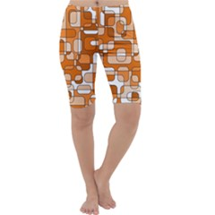 Orange decorative abstraction Cropped Leggings